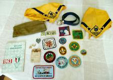 Boy Scout Cub Scout 11 Badges Patches Book Belt Hat Mixed Lot