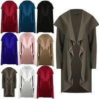 Womens Waterfall Italian Blazer Cape Cardigan Ladies Open Front Long Sleeve Coat