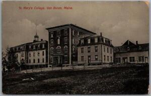 Van Buren, Maine Postcard ST. MARY'S COLLEGE Main Building View c1910s