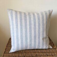 SUSIE WATSON Cushion Cover  Charcoal CAMBRIDGE STRIPE  Laura Ashley Austen linen