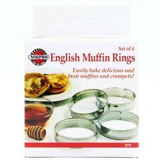 Norpro Set of 4 Tin English Muffin Rings, 3.5 Inch Diameter