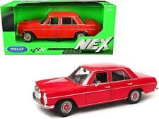 "Mercedes Benz 220 Red ""NEX Models"" 1:24 Diecast Model Car - Welly 24091RD"
