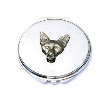 Fox Head Compact Handbag Mirror Ladies Shooting Hunting Gift FREE ENGRAVING