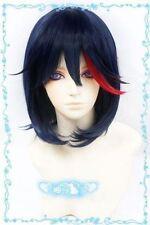 Kill la Kill Matoi Ryuko Dark blue mix short cosplay wig + Gift Wigs Mesh Cap