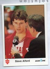 1987 BANK ONE STEVE ALFORD #12 INDIANA UNIVERSITY HOOSIER NMT-MT FREE SHIPPING