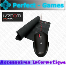 Venom Challenger Souris gaming mouse laser et tapis mat gamers speed accuracy