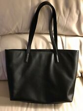 NWT $295 Black Leather Structured Shoulder Tote Bag - like Everlane and Cuyana