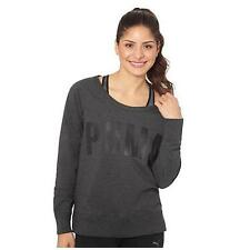 NWT Puma Women's Long Sleeve Active Sweat Crew Neck Sweat Sweatshirt Gray XL