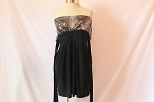 Women's Sequined Black Dress by JFW - Size X Large