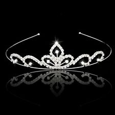 Wedding Party Bridal Tiara Children Crown Headband ear Rhinestone B4M7