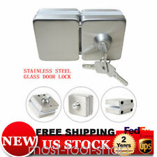 Stainless steel Building glass door lock Double Sides anti-theft Safety copper