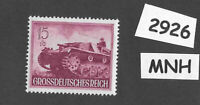 #2926     MNH stamp / 1944 /  PF15 + PF10 / Military Motorized / WWII Germany