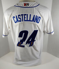 2019 Omaha Storm Chasers Castellano #24 Game Used White Jersey