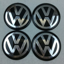 3D Car Wheel Center HUB Caps Curve Badge EMBLEM for VW VOLKSWAGEN Bu/Chrome 65mm