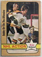 1972-73 Bobby Orr O-Pee-Chee NHL Action Card #58 Boston Bruins Legend
