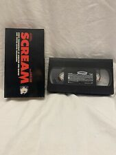 SCREAM VHS Audio Commentary RARE Horror scary movie wes craven viewed Once EXC
