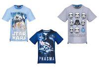 Boys Kids Children Teenage Star Wars Short Sleeve Tee T Shirt Top age 6-12years