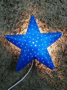 IKEA Smila Hjarta Blue Star. Wall Night Light Lamp Kids