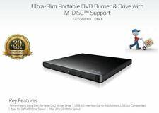 LG GP65 Ultra Slim External Drive. CD / DVD Burner Writer USB 2.0/3.0 Win & Mac!