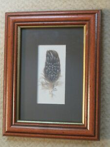 Tristan Alexander – Feather Face - Original painting on feather