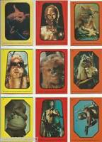 Star Wars - Jedi (ROTJ) Series 1 - Complete 33 Card Sticker Set - 1983 Topps -NM
