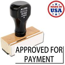 NEW USA Made- Approved For Payment Rubber Stamp