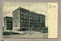 Postcard NY Barnard College Street Scene 1910's Car c1912 -505