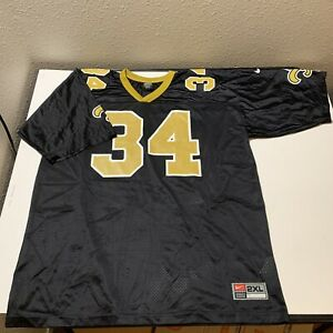 Vtg Ricky Williams #34 New Orleans Saints Nike Team Rookie Jersey NFL Adult XL