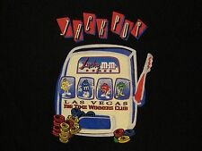 M&M's World Jackpot Las Vegas Big Time Winners Club Slot Candy Black T Shirt M/L