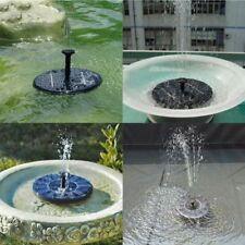Solar Powered Bird Bath Fountain Water Pump Floating Garden Pond Pool Fish Tank