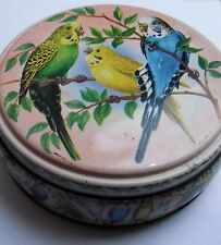 Lovely Vintage Peek Frean & Co London Biscuit Tin With Budgies Budgerigars