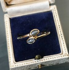 Women's 10ct Gold Ring Apatite 'Cats Eye' Size U Weight 2g Stamped