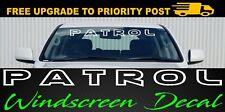Nissan PATROL gq gu 4X4 4wd WINDSCREEN Decal STICKER 900mm