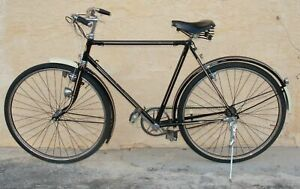 "1930's Lion Rouge Men Bicycle Black Restored Belgium Wheels 26"" Antique Vintage"