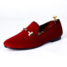 Harpelunde Elegant Red Slip On Dress Shoes Men Footwear With Buckle