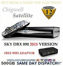 Sky+ Plus HD Satellite Box New Remote and Leads sky on demand wireless connector