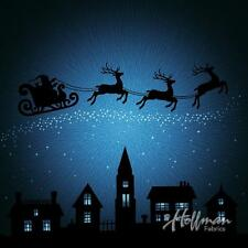 "Supernova Seasons Christmas Reindeer Hoffman Spectrum Digital Fabric 44"" Panel"