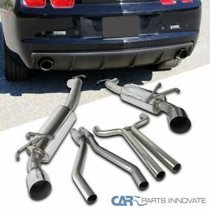 10-15 Chevy Camaro 3.6L V6 Chrome S/S Dual Catback Exhaust System Muffler Tip
