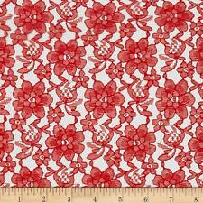 "Raschel Lace Fabric By The Yard 100% Polyester 60"" W French Floral Free Shipping"