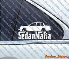Lowered SEDAN MAFIA car sticker - for Volvo 740 turbo Sedan