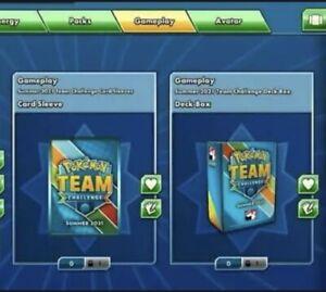 Pokemon Team Challenge Summer 2021 Deck Box & Sleeves PTCGO Online