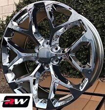 "20 x9"" inch GMC Yukon Factory Style Snowflake Wheels Chrome Rims 6x139.7 +24"