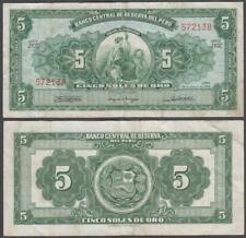 Peru, 5 Soles De Oro, 1965, VF++, P-83