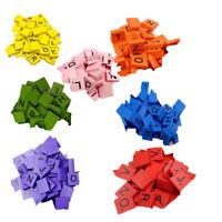 100 Stylish Wooden Scrabble Tiles Black Letters Number For Crafts Wood Alphabets