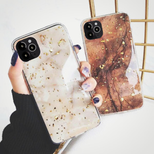 Bling Marble Case For iPhone 12 SE 2 7 8 Plus XR XS 11 Pro Max Soft Phone Cover