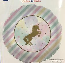 """18"""" Unicorn Sparkle Balloon (2 Balloons) Sold Flat"""