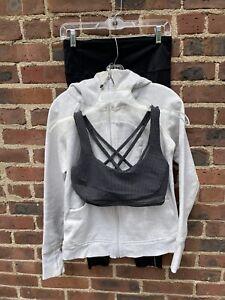 Lululemon Lot Of 3: Hoodie Jacket, Bra & Pant Size 8