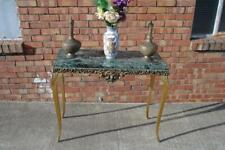 Vintage Italian Mid Century Marble & Gilt Rococo Console Table Hollywood Regency