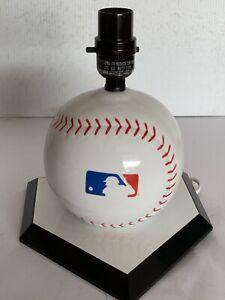 MLB Logo Baseball Shape Desk Lamp Kid's Room Lamp
