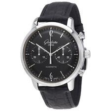 Glashutte Sixties Black Dial Mens Chronograph Watch 39-34-02-22-04